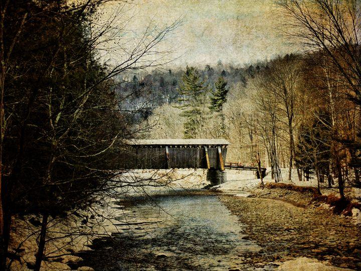Halls Mills Covered Bridge - Pine Singer Photographic Art