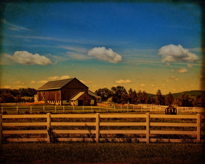 Sunset Over the Farm - Pine Singer Photographic Art
