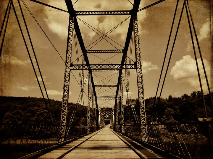 Truss Bridge over the Delaware - Pine Singer Photographic Art