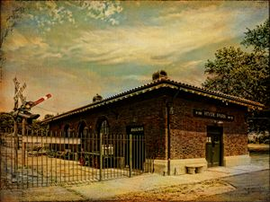 Hyde Park Railroad Station - Pine Singer Photographic Art