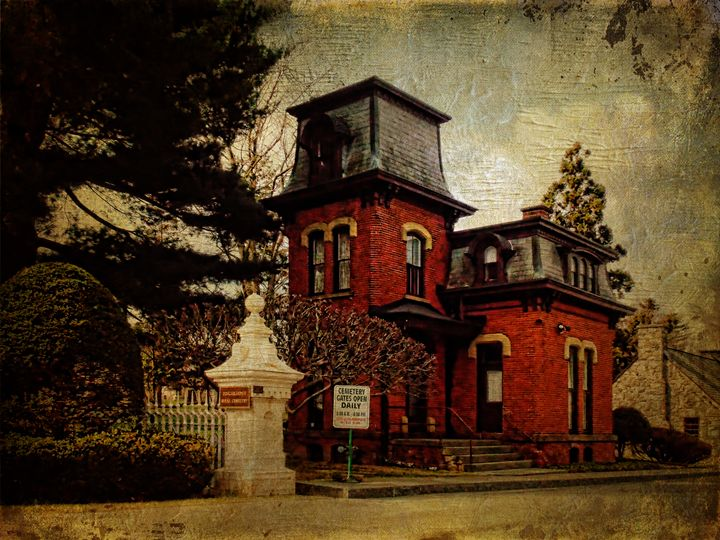 Cemetery Gatehouse - Pine Singer Photographic Art