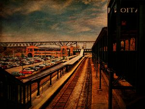 Poughkeepsie Train Station - Pine Singer Photographic Art