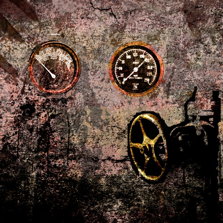 SALE - abstract industrial - eli's art
