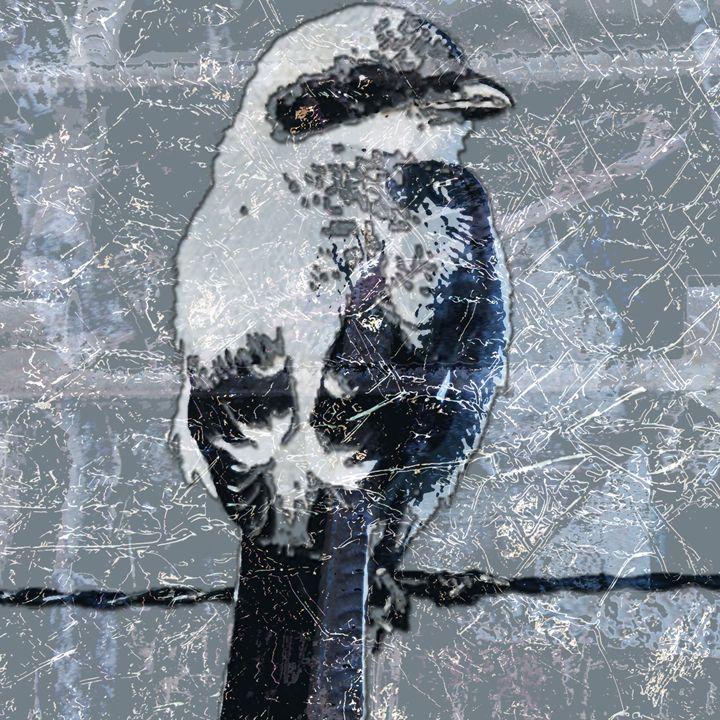 SALE - bird on barbed wire - eli's art