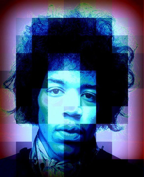 Jimi Hendrix by paradiseblueart - paradiseblueart