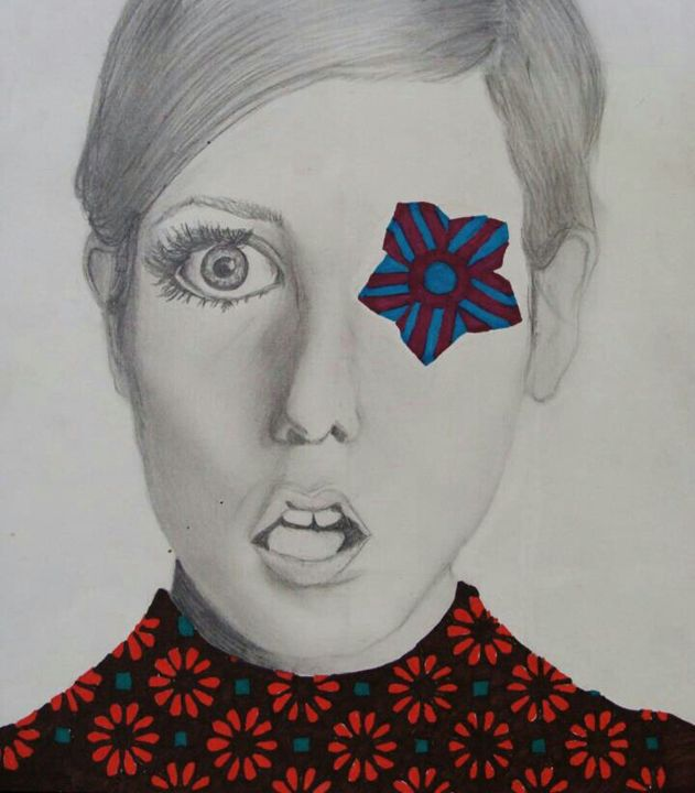 Twiggy on acid - O'Donahue Drawings