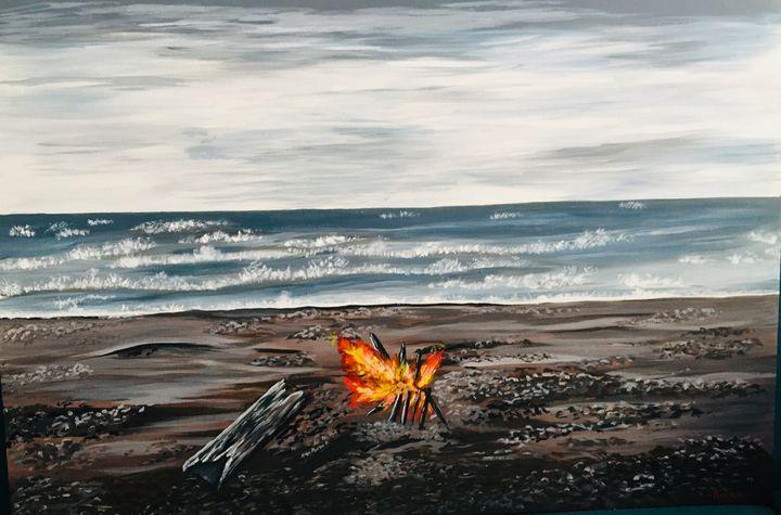 Bonfire on beach - Beena Sohail