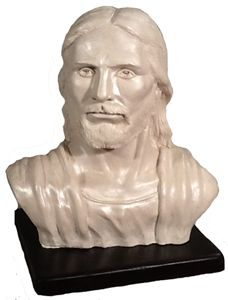 The Savior Bust with Wood Base