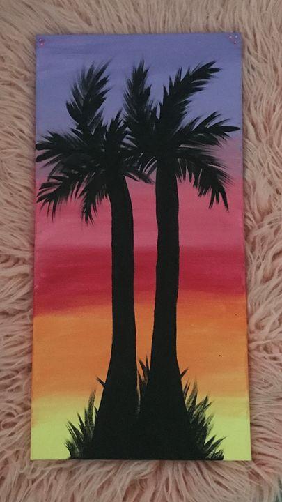 Palm Tree Sunset - Lyn Weiss