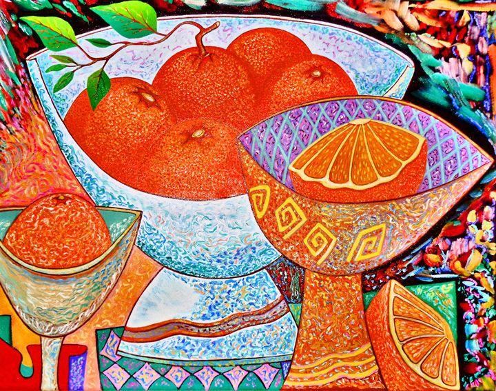 Original Oil Painting Oranges - Vladimir Kazakov