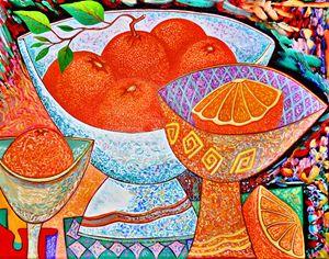 Original Oil Painting Oranges