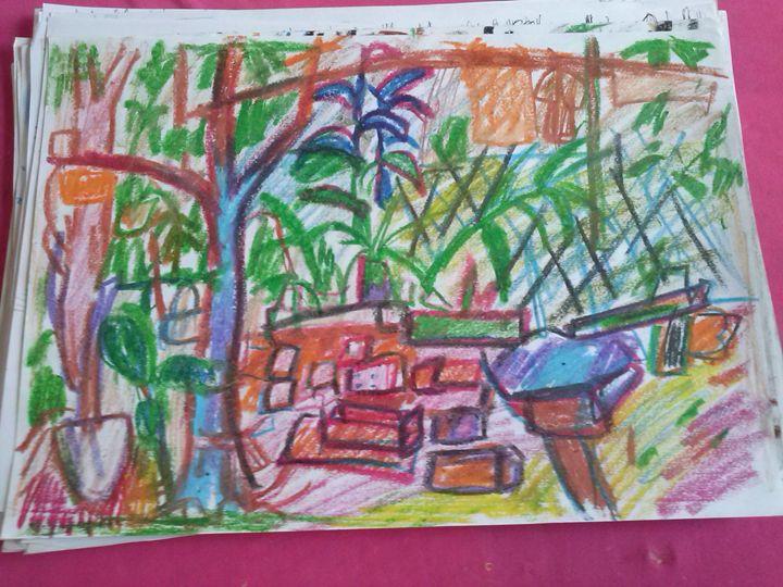 Cây xanh va đá - Nguyenthaikhangart