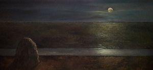 The field under moonlight - h2t Art
