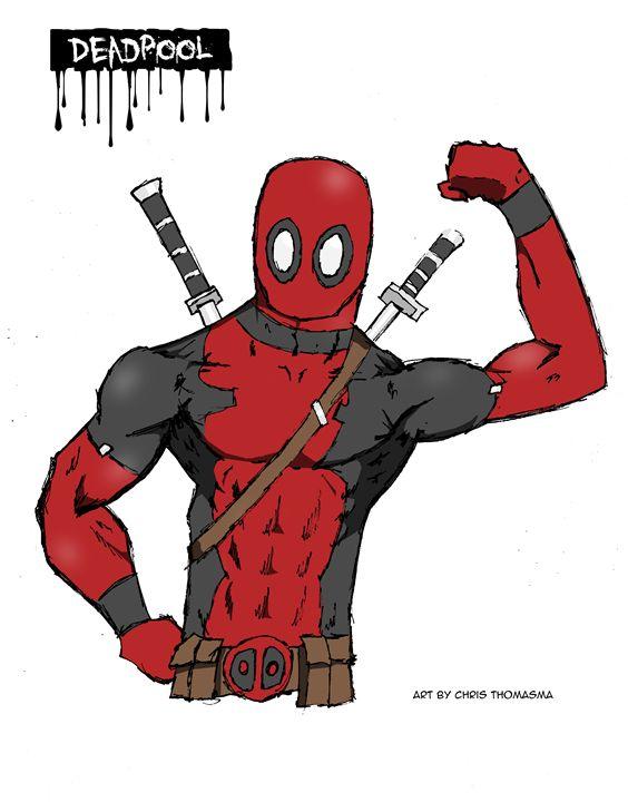 Deadpool - Chris's cartoons and comic art!