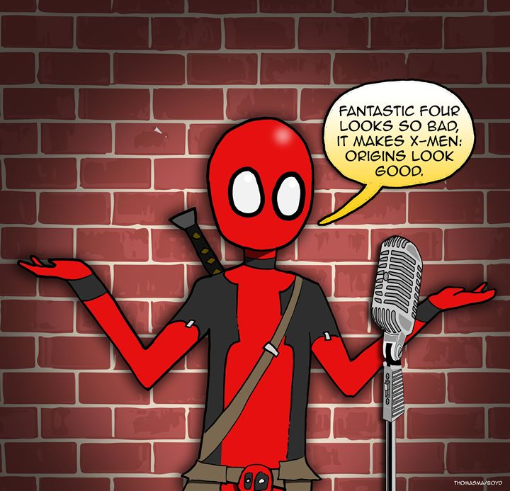 Stand up Deadpool - Chris's cartoons and comic art!