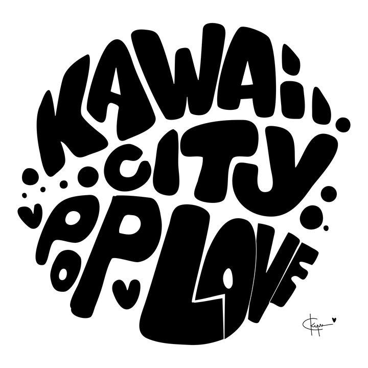 Kawaii City Pop Love BW - Kyrima - Artist Gallery