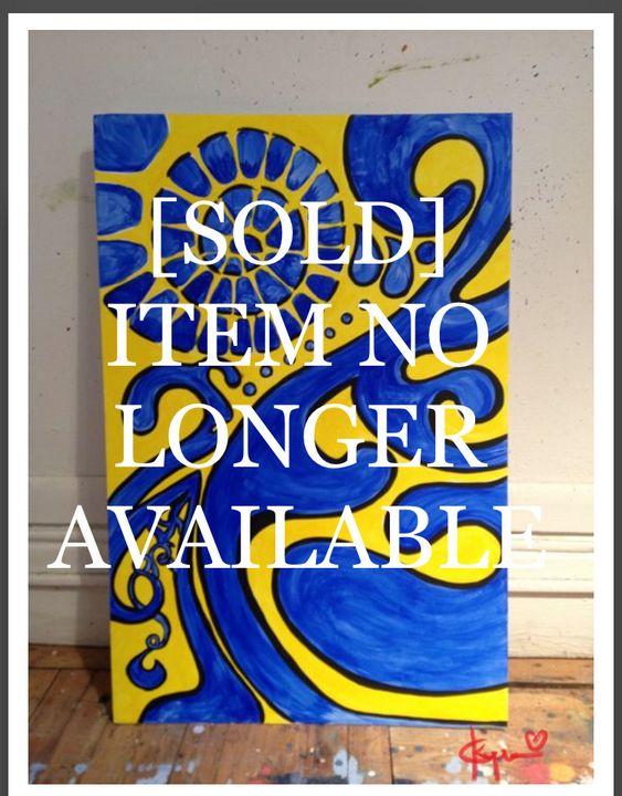 [SOLD ITEM] Blue Swavey / 150.00 - Kyrima - Artist Gallery