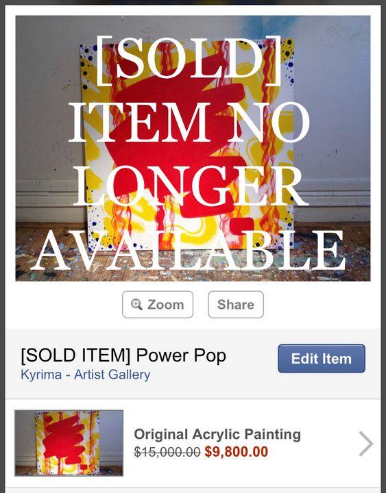 [SOLD ITEM] Power Pop - Kyrima - Artist Gallery