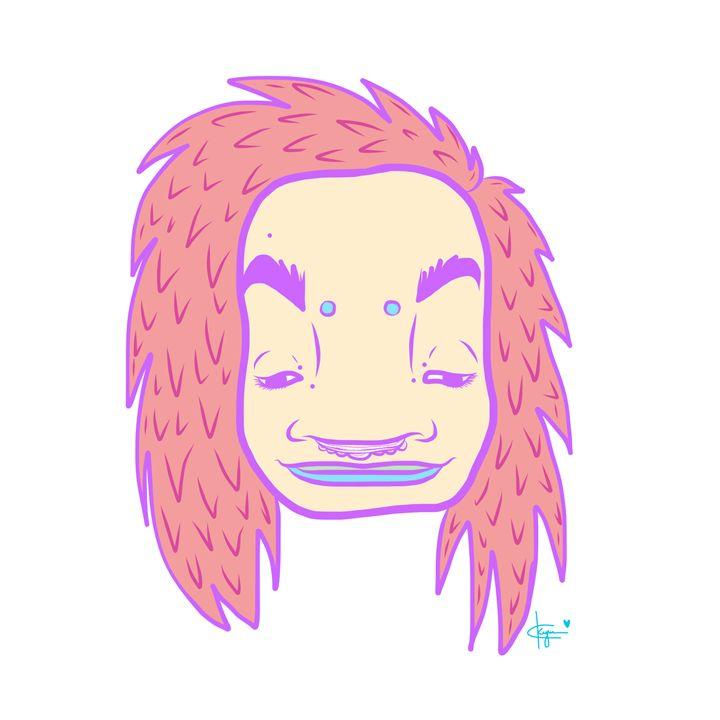 Orange Ruffled Hair - Kyrima - Artist Gallery