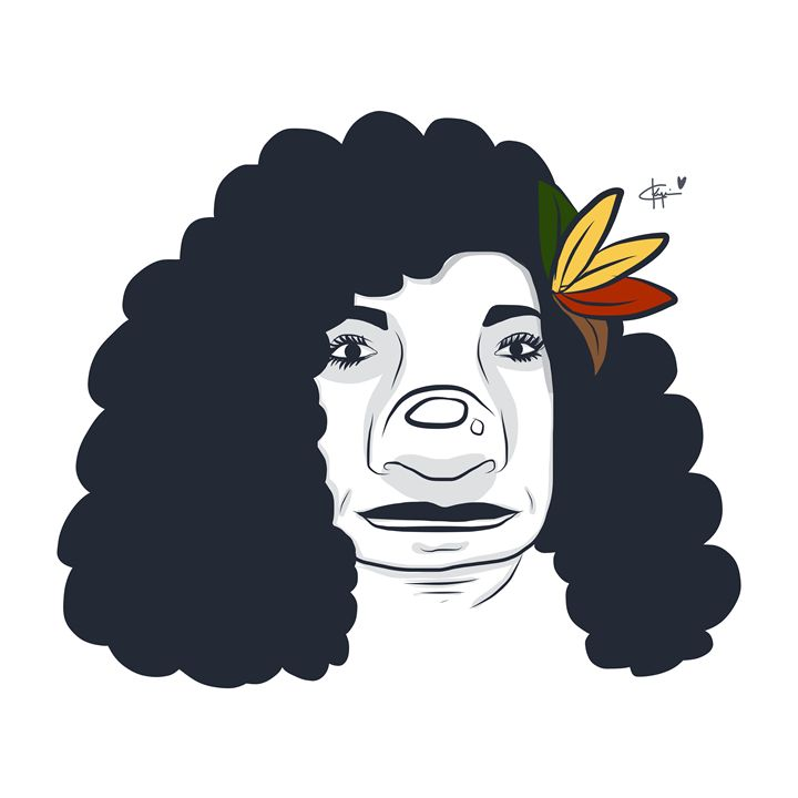 Black Curly Hair - Kyrima - Artist Gallery