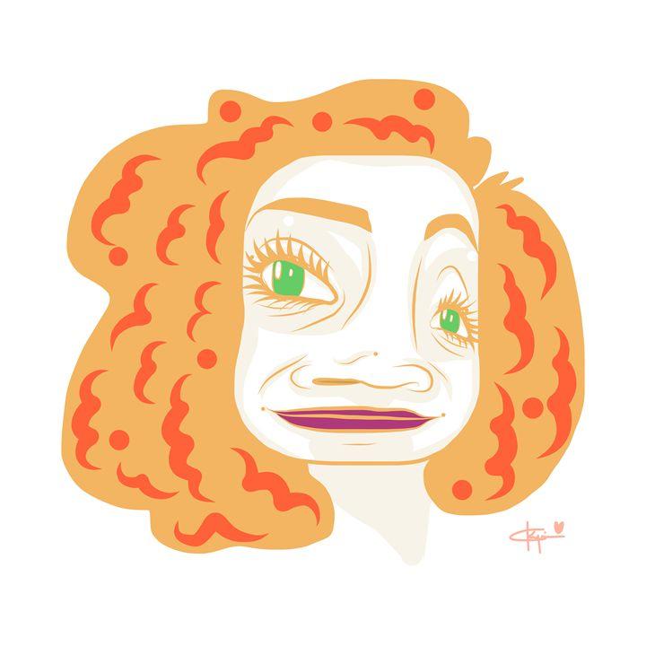 Orange Curly Hair - Kyrima - Artist Gallery