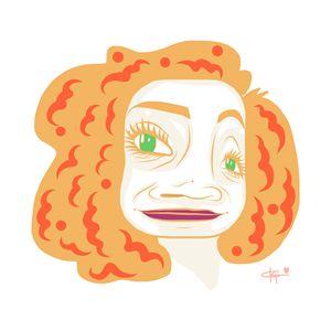 Orange Curly Hair