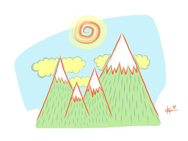 Spiral Sun and Mts - Kyrima - Artist Gallery
