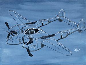 P-38 Lightning in the Blue