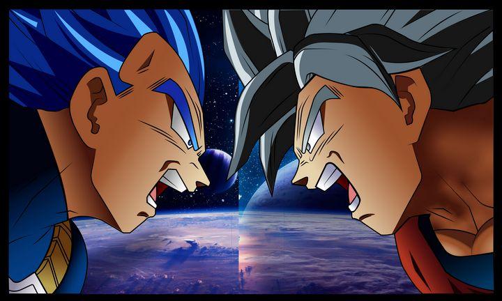 Goku and Vegeta - MorningStar Art Gallery