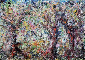 tre ulivi dripping - ARTE  -  Antonino Puliafico  -