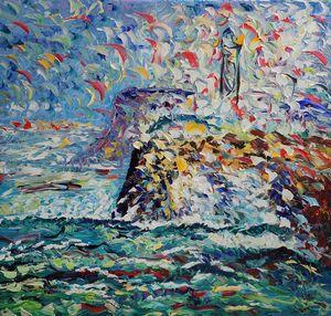 Faro con onde - ARTE  -  Antonino Puliafico  -