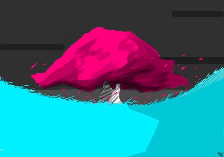 pink tree - Daniel cruise
