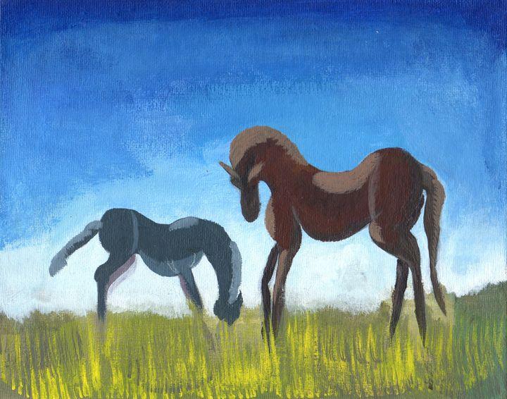 Horses in a field - Greg Raynard