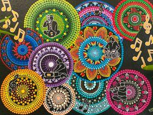 Music Mandala Painting