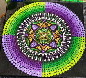 Purple Green Mandala