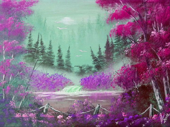 Pink and Violet  Mist - Collin A. Clarke