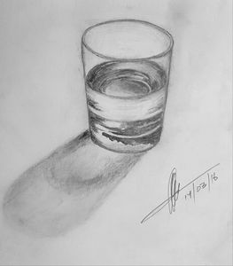 3D Glass of Water