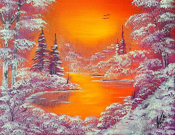 Violet Winter Twilight - Collin A. Clarke