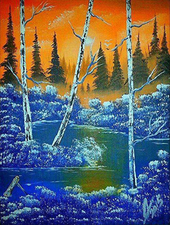 Misty Winter Sunset - Collin A. Clarke