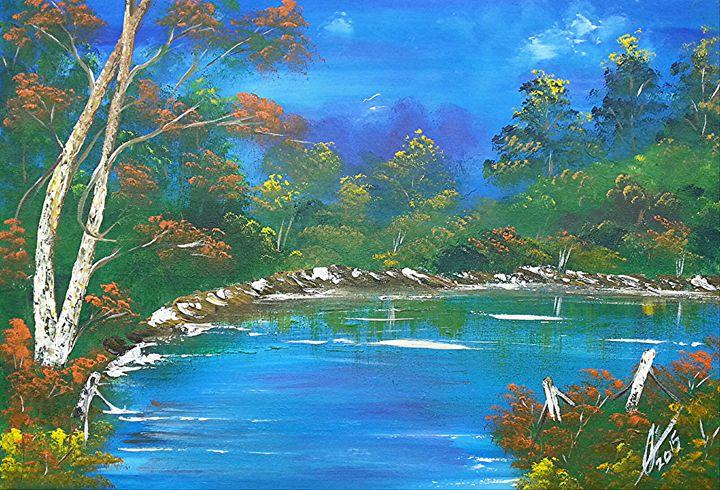 Tropical  Landscape - Collin A. Clarke