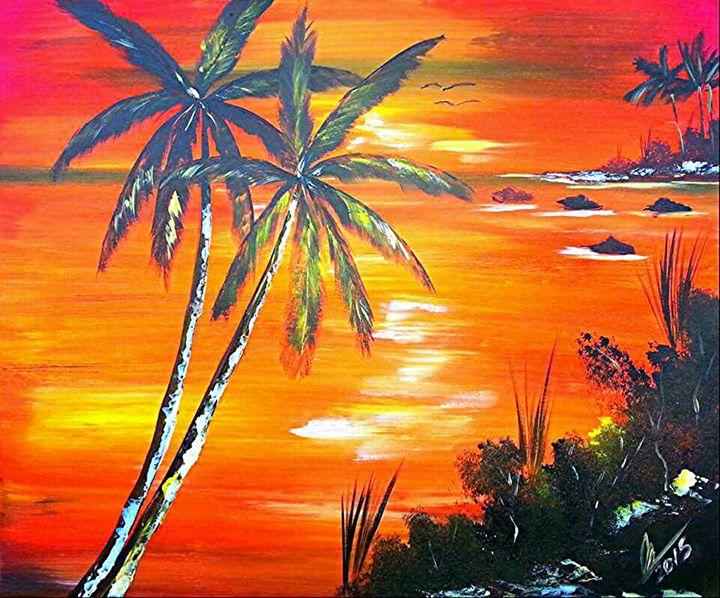 Coconut Palms Sunset - Collin A. Clarke