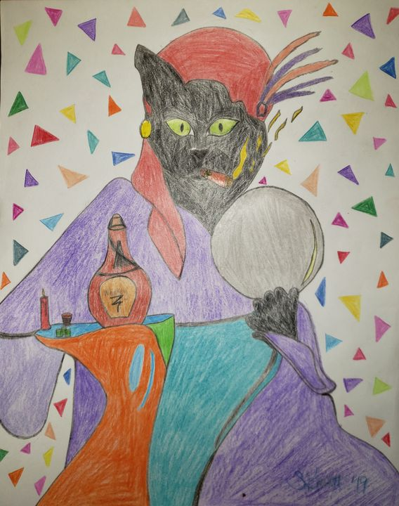 Cat Psychic - Creole Lady Art