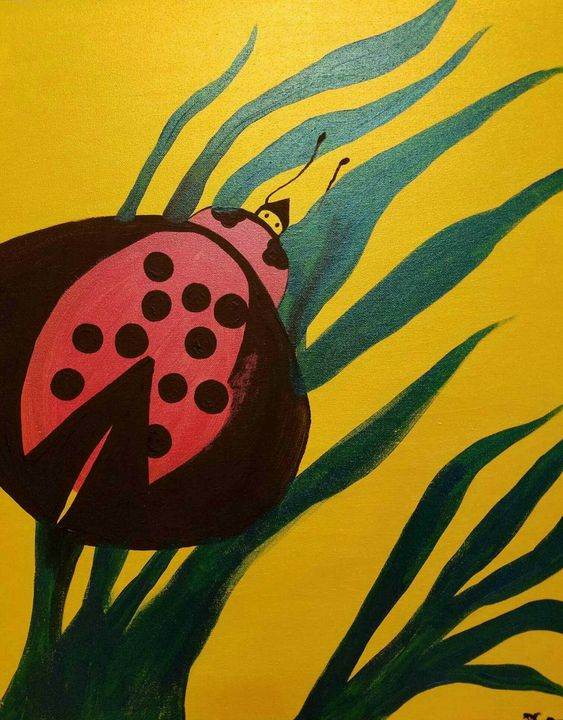 Lady bug love - Creole Lady Art