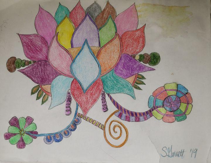Lotus simple - Creole Lady Art