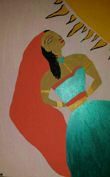 Indian Sun rays - Creole Lady Art