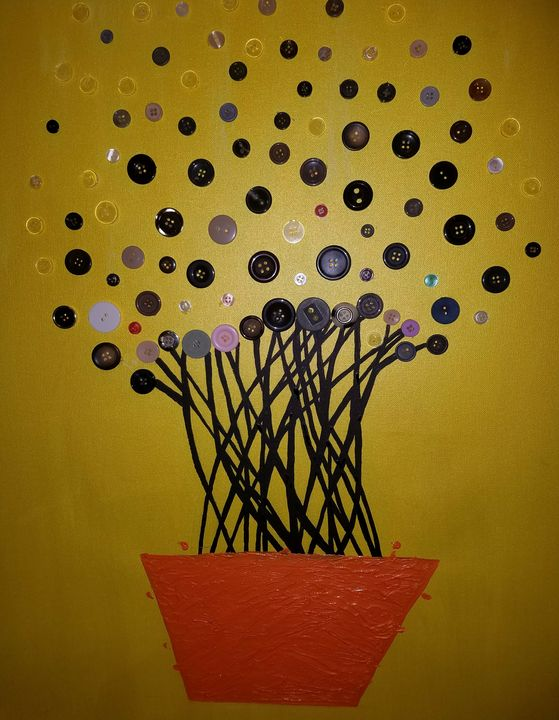 Tree buttons - Creole Lady Art