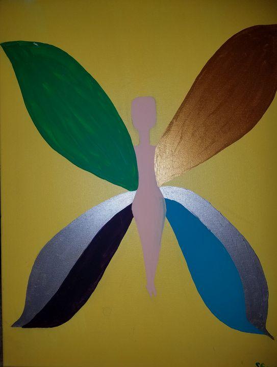 Butterfly night - Creole Lady Art