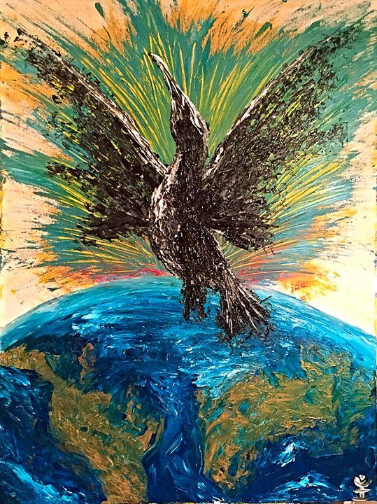 Bird of Paradise - IK Art : Earth is my Witness