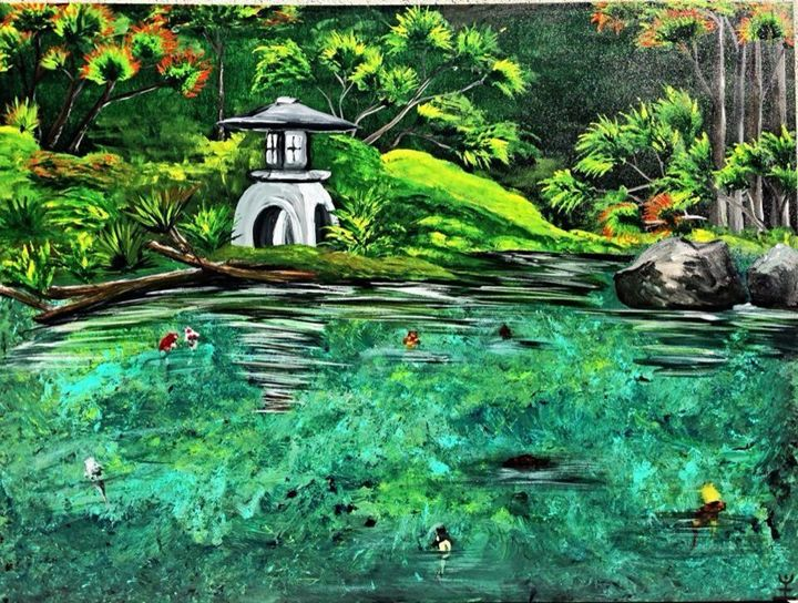 Japanese Garden - IK Art : Earth is my Witness