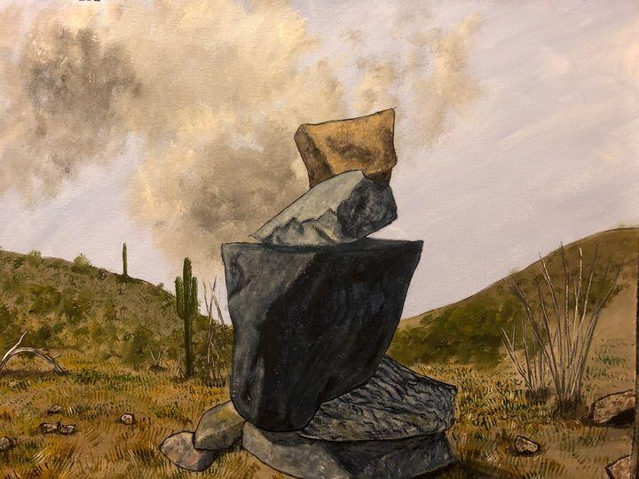 Meditation in Desert - Artporium by Stephanie